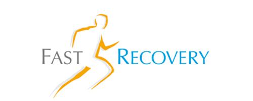 Logo Fast Recovery, Schnelle Genesung bei Knie- oder Hüftgelenks Operationen